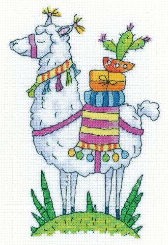 Aida Llama Heritage Crafts Cross Stitch Kit