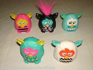 McDonalds-Hasbro-Furby-Happy-Meal-Toys-Lot-of-5-Furbies-Pink-Blue-Black-2013