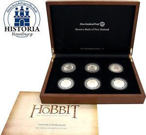 Neuseeland-6-x-1-Dollar-Silber-2012-Silbermuenzen-Hobbit-Eine-unerwartete-Reise