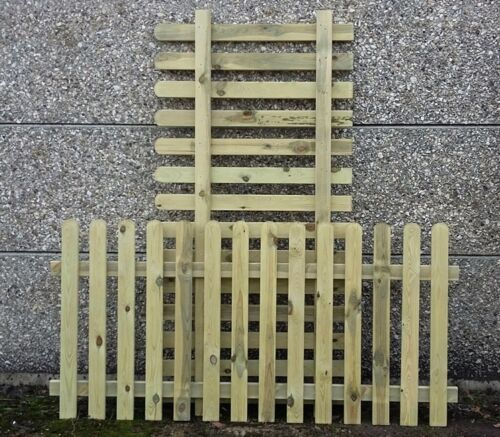 6ft tall x 1.8m 3ft 4 x 90cm Picket Garden Fence Panels treated wood