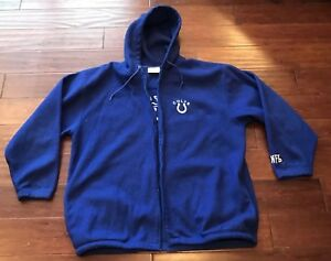 cf7687ef NFL Apparel Indianapolis Colts Blue White Fleece Zip Up Hooded ...