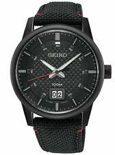 Seiko Neo Black Stainless Steel Mens Quartz Watch