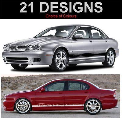 Jaguar X-Type Bande Latérale Décalques Autocollants Deux Côtés X - Type