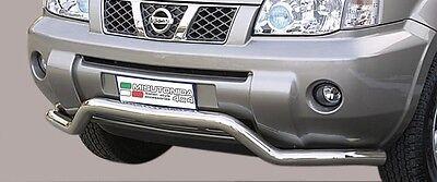 Protezione Anteriore Large Bar Misutonida Inox D.63 Per Nissan X-trail '04 / '07