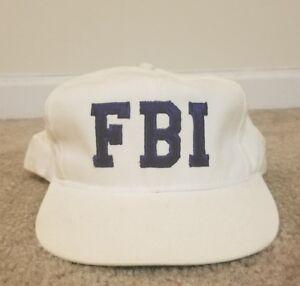Details about Vintage 90s Federal Bureau of Investigation FBI Snapback Hat  Blue White Big Logo f455e013fbf
