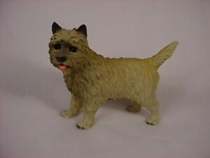 DOG Figurine Statue Hand Painted Resin Gift Pet Lovers GRAY CAIRN TERRIER