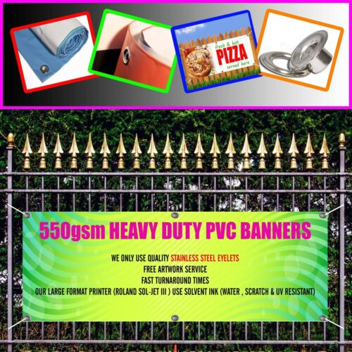 OUTDOOR PVC UNDER CONSTRUCTION SITE BANNER  SIGN FREE ART WORK READY DISPLAY