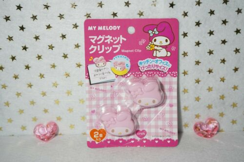 Sanrio JAPAN My Melody Small Magnetic Clip One Set of 2