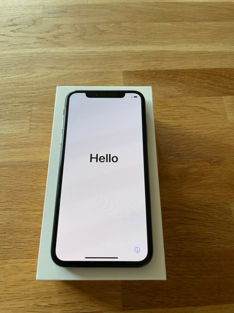 iPhone X, 256 GB, sort, God, Meget fint IPhone X 256 GB,…