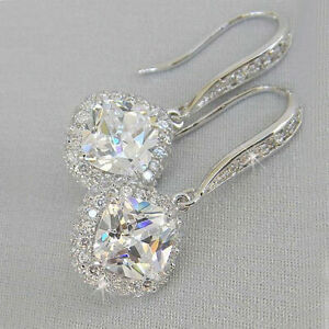 Sunshine-925-Silver-Drop-Earrings-for-Women-White-Sapphire-Jewelry-A-Pair-set
