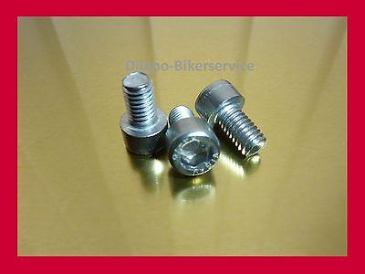 10 Stück Zylinderschrauben DIN 912 A2 V2A Innensechskant M6 x 65