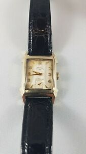 Lord elgin wrist watch, working, original box,14k gold filled, rare  watch !