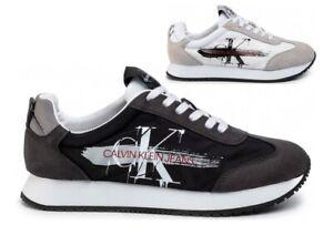 Scarpe-da-uomo-Calvin-Klein-Jeans-B4S0656-casual-da-passeggio-estive-basse