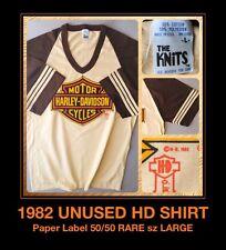 82 Vtg HD SHIELD Evel KNIEVEL MotorCycle Harley Davidson 3d paper Jersey T-Shirt