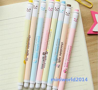 6PCS Cartoon Happy Smile Erasable RollerBall Pen/Gel Pen-0.5mm,Black Ink