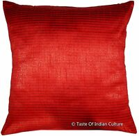 Square 16'' Cushion Pillow Cover Handmade Silk Dupion Sofa Throw Home Decor
