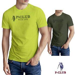 P-CLUB PCLUB P CLUB SHIRT T-SHIRT UOMO MAN UNISEX 100/%COTONE PROMO M//MANICA