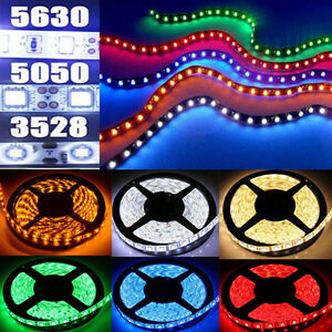 5-10-15M-Bande-Ruban-LED-Strip-Flexible-RGB-3528-5050-5630-SMD-Etanche-Fete-Noel