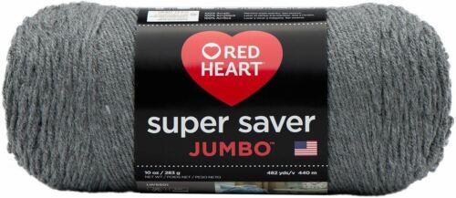 E302C-400 Red Heart Super Saver Yarn-Grey Heather