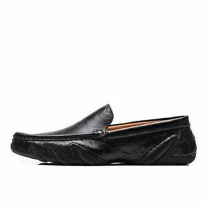Men-039-s-Moccasins-Leather-Casual-Shoes-Fashion-Driving-Slip-on-Shoes-ChicLoafers