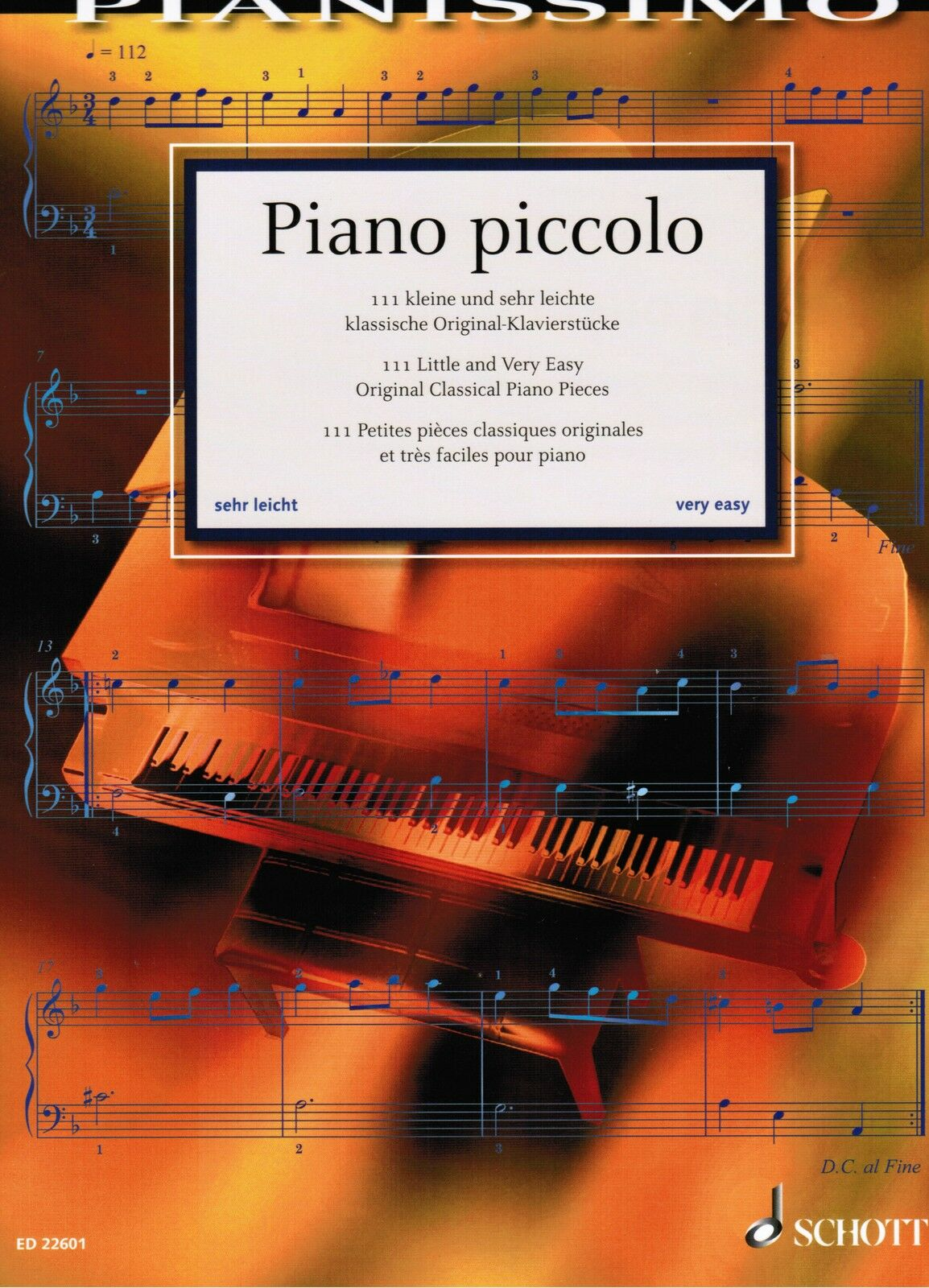 PIANO PICCOLO 111 sehr leichte klassische Originalstücke Klavier Noten