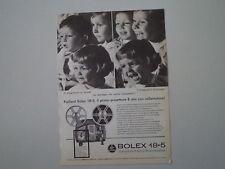 advertising Pubblicità 1962 PAILLARD BOLEX 18-5