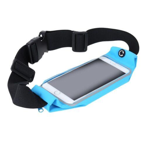 Sport Running Belt Waist Pack Touch Screen Window Samsung S3//S4//S5 Mini Blue