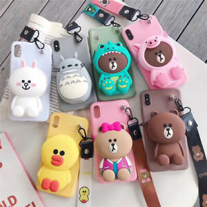 INS-Cute-Cartoon-Coin-Purse-Silicone-Wallet-Stand-Case-Cover-For-XiaoMi-RedMi