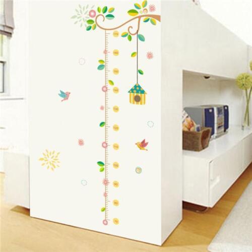 Children Height Growth Chart Measure Wall Sticker Kids Room Decor C