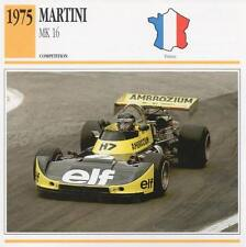 1975 MARTINI Mk.16 Racing Classic Car Photo/Info Maxi Card