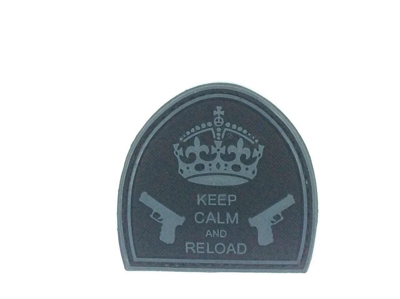 Keep Noir Calm and Reload Noir Keep Airsoft Pvc Patch 16cbe4