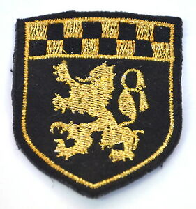 GOLD-LION-RAMPANT-SHIELD-Embroidered-Iron-Sew-On-Cloth-Patch-Badge-APPLIQUE