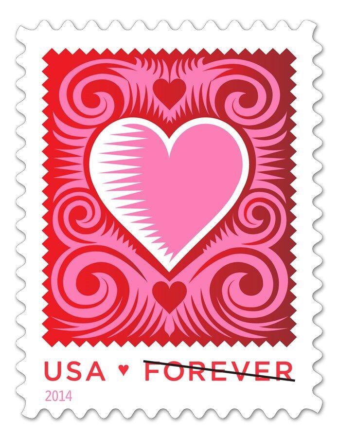 2014 49c Cut Paper Heart, Love Scott 4847 Mint F/VF NH