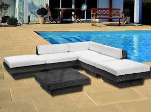 Divano rattan salotto luxus arredo giardino esterno for Arredo piscina