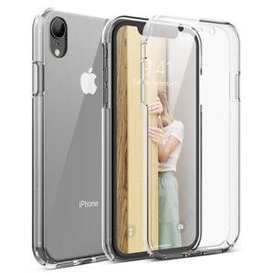 iphone xr 360 clear hard case