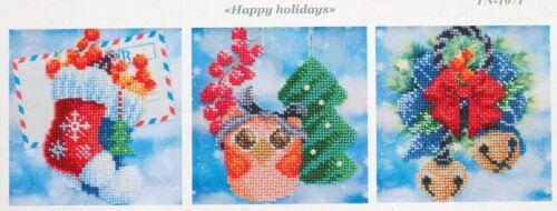 Weihnachten Winter Stickpackung Perlen Stickbild Stickvorlage Bild sticken 606