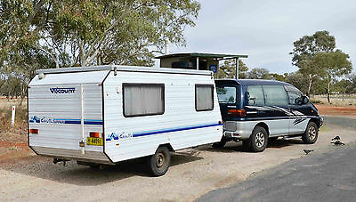 Caravan 1994 14ft Viscount Gazelle Nipper - side entry with double bed
