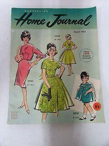 Vintage 1962 Home Journal Magazine Mid Century Design Fashion Dress Patterns Ebay