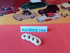 24X FORD VEDETTE Lot de 4 tyres pneus ronds 15X8 15//8 BLANC DINKY TOYS