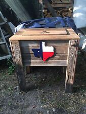 NEW Rustic Wooden Handmade Deck Cooler! Wood Patio Pool Party Outdoor Ice  Chest