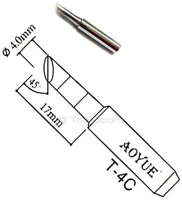 45°, length 17 mm, diameter 3.0 mm AOYUE T-3CF Soldering Iron Tip Bevel Type