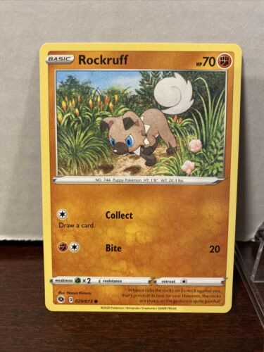 Pokemon TCG Champion's Path - Rockruff 029/073 4 Card Lot Brand New!! HOT