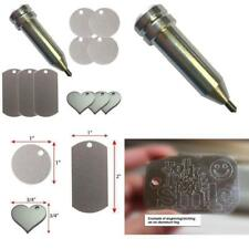 Engraving Tool for The Cricut Maker and Explore by Chomas Creations and 12 Stamping Blanks 13 Pieces Set 2
