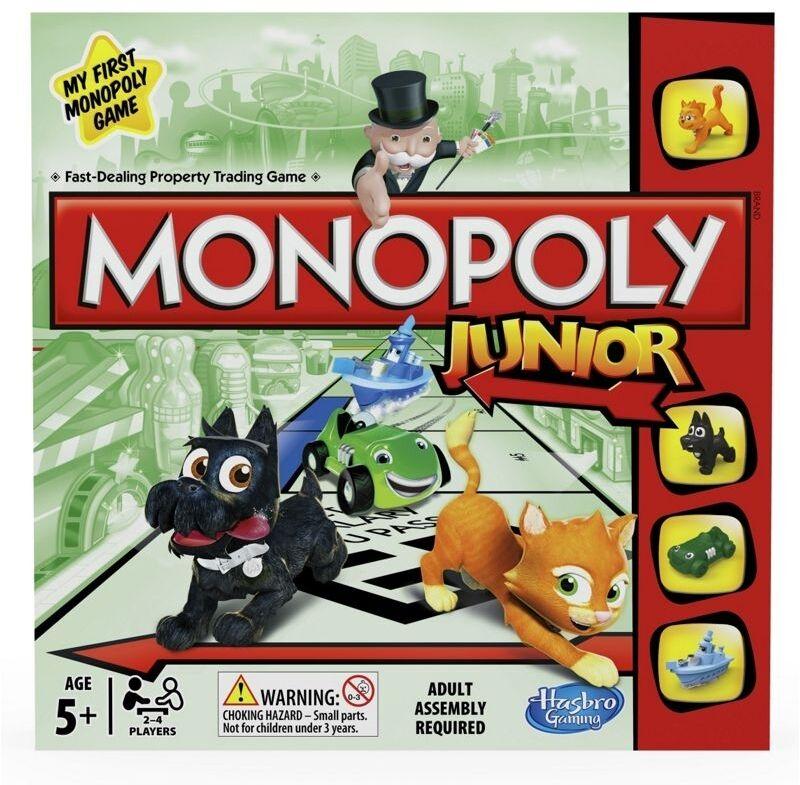 Monopol junior brettspiel von hasbro games