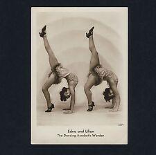 ACROBATIC DANCERS Edna & Lilian AKROBATIK-TÄNZERINNEN * Vintage 1920s Photo PC