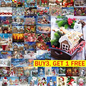 5D-DIY-Full-Drill-Merry-Christmas-Diamond-Painting-Art-Cross-Stitch-Kit-Decor