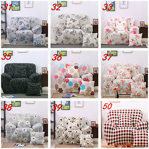 1/2/3/4 Seater Sofa Cover Chair Couch Protect Slipcover Loveseat Stretch Elastic