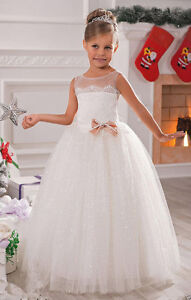 Atulle Ball Gown Baby Girl Birthday Party Christmas Dresses Flower