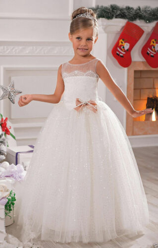 A+Tulle Ball Gown Baby Girl Birthday Party Christmas Dresses Flower Girl Dress