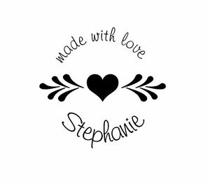 UNMOUNTED-PERSONALIZED-039-MADE-WITH-LOVE-039-RUBBER-STAMPS